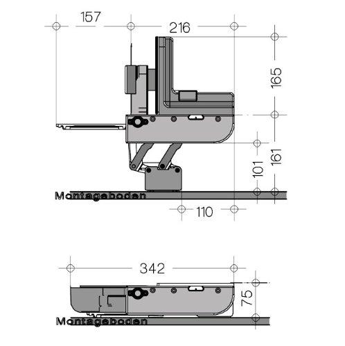 Skizze Montage Ritter AES 62 SR